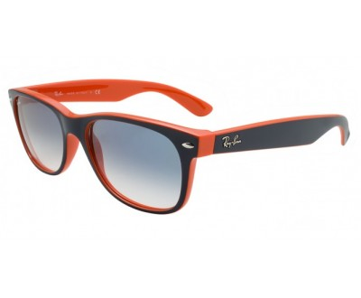 Óculos de Sol Ray Ban NEW WAYFARER 2132 55 789/3f azul com laranja