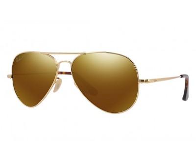 Óculos de Sol Ray Ban Aviador Ouro Dourado 18K 040KN3 - ULTRA RB8029K POLARIZADO 3 PLUS tam LARGE