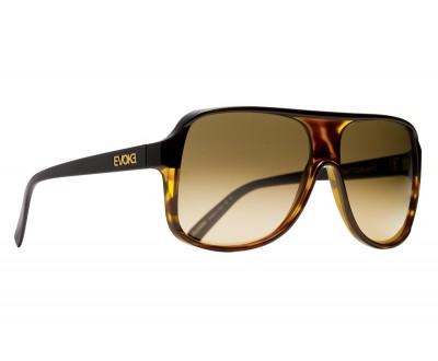 Óculos de Sol Evoke EVK 04 TURTLE BLACK GOLD BROWN GRADIENT