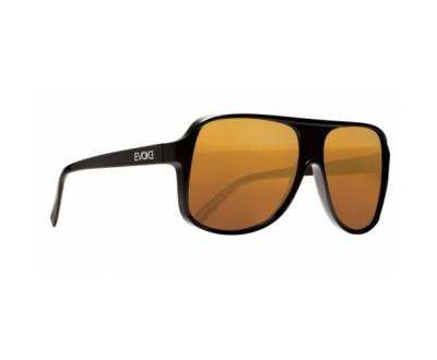 Óculos de Sol Evoke EVK 04 BLACK SHINE SILVER BRONZE MIRROR GRADIENT