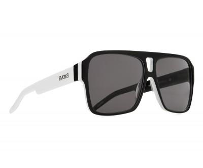 Óculos de Sol Evoke EVK 09 BLACK TEMPLE WHITE SILVER GRAY TOTAL