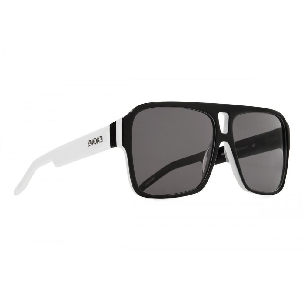 Óculos de Sol Evoke EVK 09 BLACK TEMPLE WHITE SILVER GRAY TOTAL Ver ampliado 05cdabe533