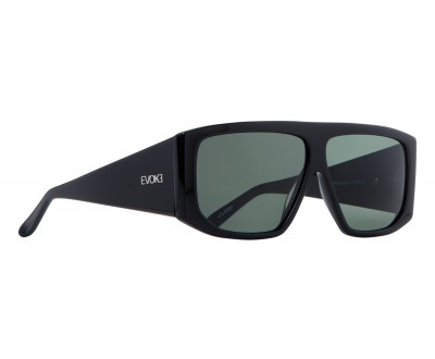 Óculos de Sol Evoke EVK 11 BLACK SHINE SILVER GREEN TOTAL