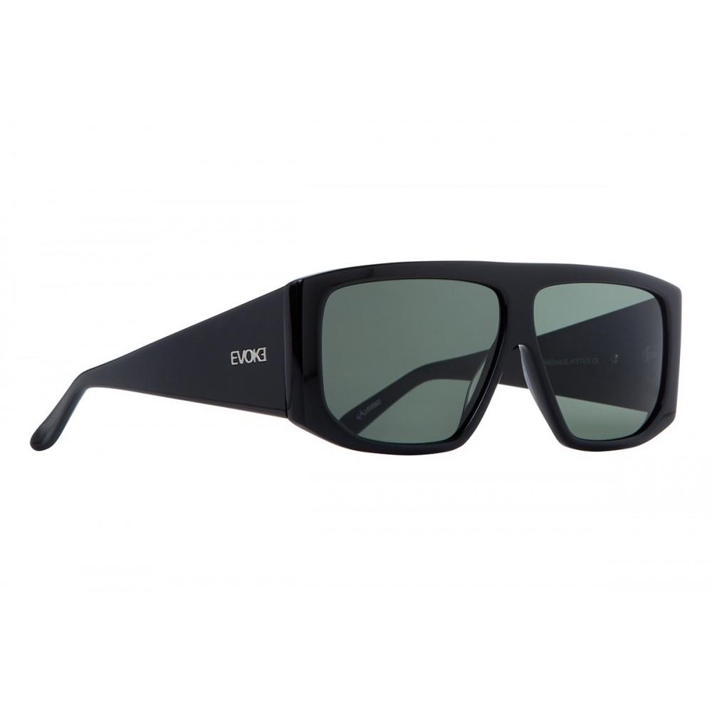 Óculos de Sol Evoke EVK 11 BLACK SHINE SILVER GREEN TOTAL - Óticas ... 6a33fa6be3