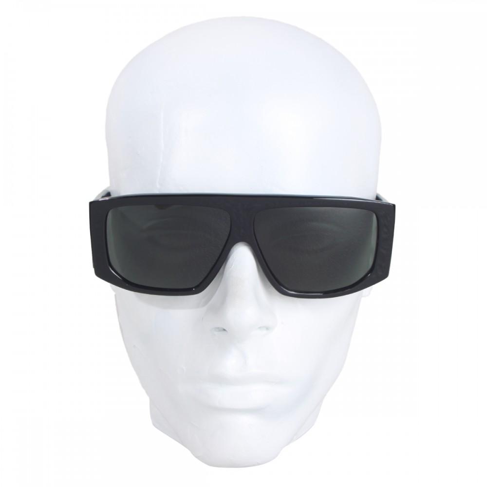 Óculos de Sol Evoke EVK 11 BLACK WHITE SILVER GRAY TOTAL (LENTE TOTAL) Ver  ampliado 7a4b67d470