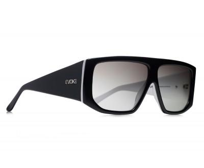 Óculos de Sol Evoke EVK 11 BLACK WHITE SILVER GRAY TOTAL (LENTE TOTAL)