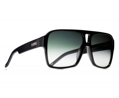 Óculos de Sol Evoke EVK 09 BLACK SHINE ACETATE SILVER GREEN GRADIENT