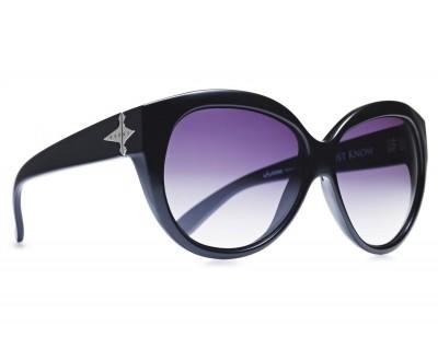 Óculos de sol EVOKE DEJA VU CAT STYLE BLACK SHINE SILVER GRAY GRADIENT