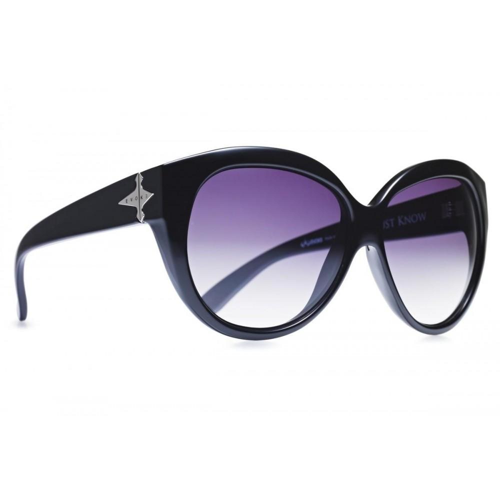 Óculos de sol EVOKE DEJA VU CAT STYLE BLACK SHINE SILVER GRAY GRADIENT Ver  ampliado c1fde72d85
