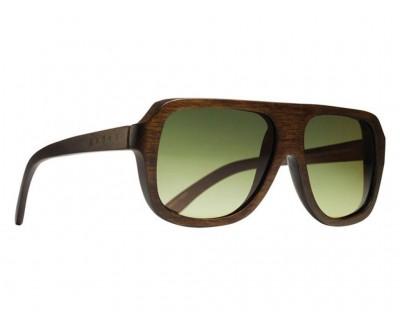Óculos de Sol Evoke wood series 01 dark brown green gradient