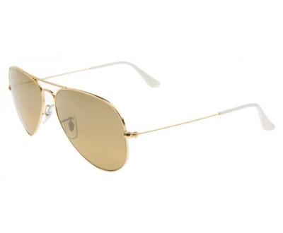 Óculos de Sol Ray Ban Aviador RB 3025 001/3K Tam: 55, 58 e 62 (DOURADO/BEGE)