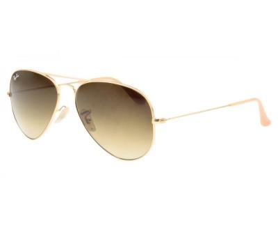 Óculos de Sol Ray Ban Aviador RB 3025 112/85 Tam: 55 e 58 (DOURADO/FOSCO)