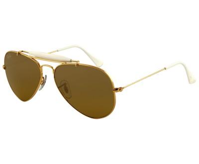 Óculos de Sol Ray Ban Aviador Caçador RB3407 001/3K TAM:58