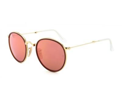Óculos de Sol Ray Ban ROUND DOBRAVEL RB3517 001/Z2 51 ESPELHADO