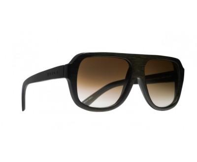 Óculos de Sol Evoke Wood Series 01 Black Wood Laser Brown Gradient