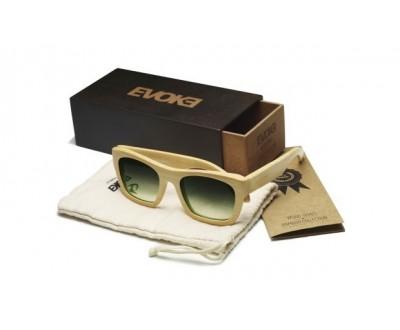 Óculos de Sol Evoke Wood Series 02 Clear Laser G15 Green Gradient