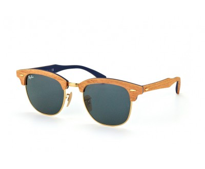 Óculos de Sol Ray Ban Clubmaster de Madeira RB 3016-M 1180R5 51