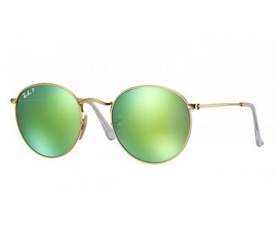 Óculos de Sol Ray Ban ROUND RB 3447 112/P9 50 ESPELHADO POLARIZADO