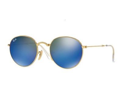 Óculos de Sol Ray Ban Round Dobrável RB 3532 001/68 50 ESPELHADO