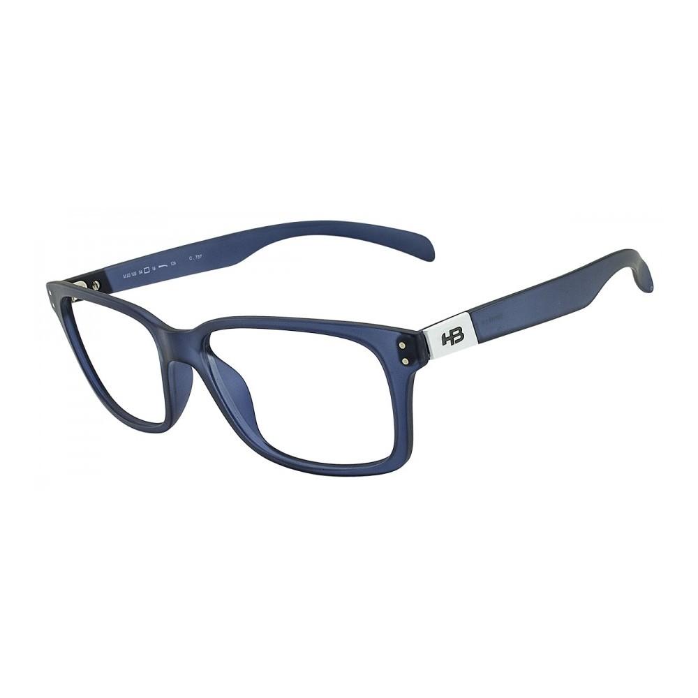 Armação HB 93105 BLACK MATTE BLUE - Óticas Online 0760a39da2