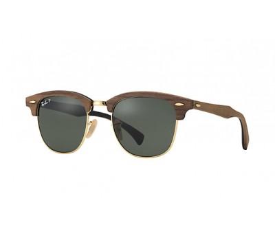 Óculos de Sol Ray Ban Clubmaster de Madeira RB 3016-M 118158 51 Polarizado
