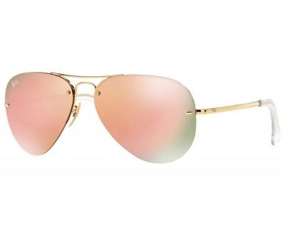 Óculos de Sol Ray Ban Aviador RB 3449 001/2Y 59 Espelhado