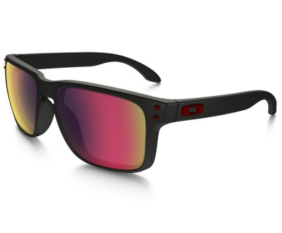 Óculos de Sol Oakley HOLBROOK OO9102-3655 Matte Black/Positive Red Iridium