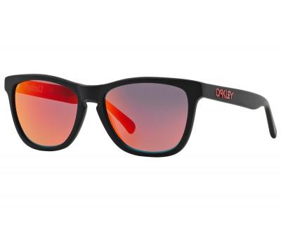 Óculos de Sol Oakley Frogskins LX OO2043-0256 Matte Black W/Ruby Iridium